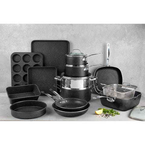 Granitestone Diamond Non Stick 20pc Complete Cookware and Bakeware Set
