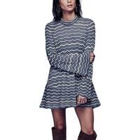 Free People Womens Ziggy Sweaterdress Chevron Scalloped