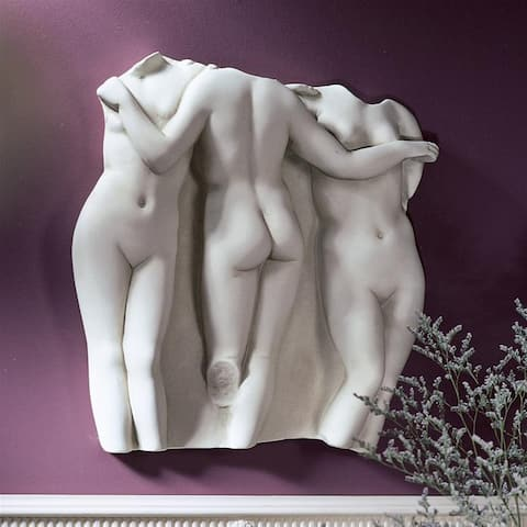 Design Toscano Three Graces Wall Fragment: Large Scale