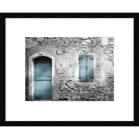 Vintage Facade by Valentina 21-inch x 17-inch Framed Wall Art Print