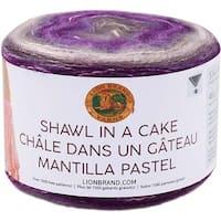 Mindful Mauve - Lion Brand Shawl In A Cake Yarn