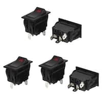 Unique Bargains Switches Control 12V 35A Auto HeadLight Rocker Switch 3 Pins 5 Pcs