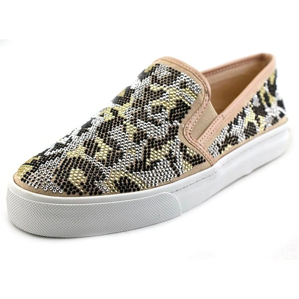 INC International Concepts Sammee 2 Women Leopard Taupe Sneakers Shoes