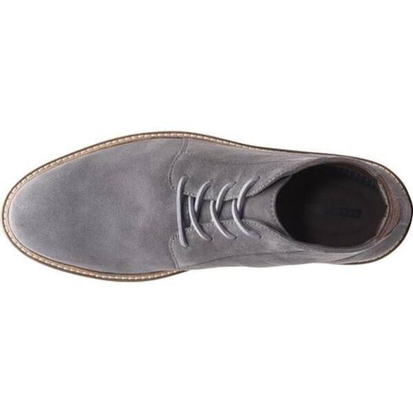 Comida sana acre Saturar  Clarks Men's Grandin Mid Ankle Boot Grey Suede - Overstock - 25594297