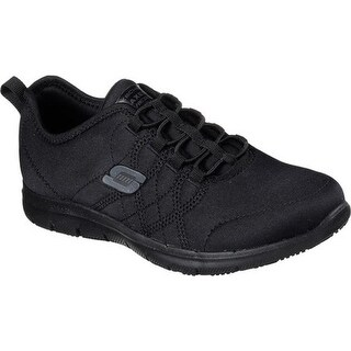Skechers Women's Work Relaxed Fit Ghenter Srelt SR Sneaker Black