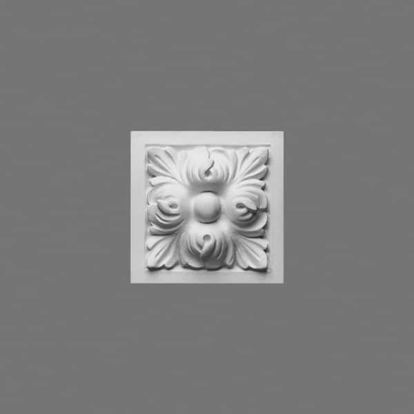 High Density Polyurethane Corner Block Primed White D200 3-3//4 W x 3-3//4 H Orac Decor