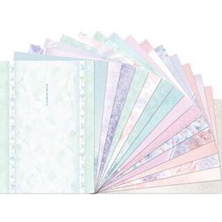 Hunkydory Floral Shimmer A4 Card Inserts 16/Pkg-