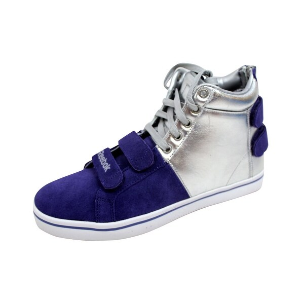 Reebok Men's Fuze 1.0 Vulcanized FH White/Purple-Silver 4-J06834