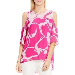 Vince Camuto Womens Casual Top Chiffon Printed