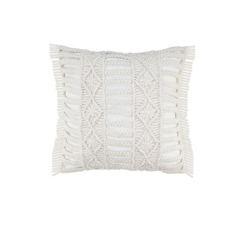 Hand Made Macrame Indoor Outdoor Throw Pillow