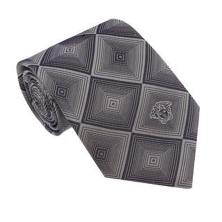 Versace Grey Woven Diamond Vector Tie