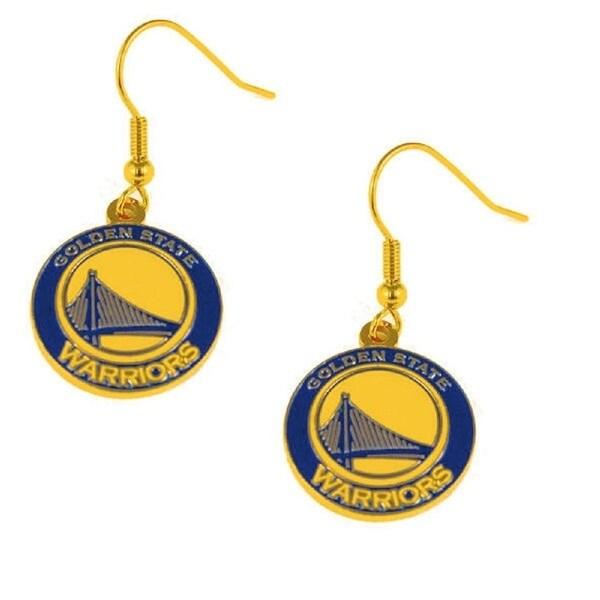 Golden State Warriors Dangle Logo Earring Set Nba Charm Gift