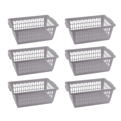 Small Plastic Storage Basket for Organizing Kitchen Pantry, Countertop