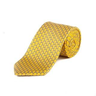 "Ermenegildo Zegna Men's Silk ""Golf Flag"" Tie Yellow - no size"