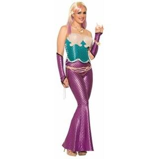 Mermaid Adult Costume Leggings Pink One Size