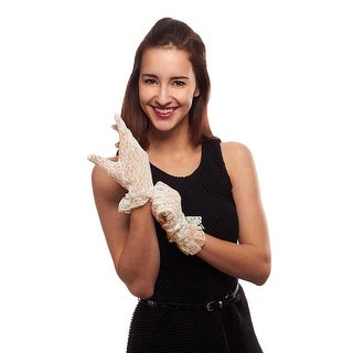 Ruffled Grace Ladies Wrist Length Lace Glove