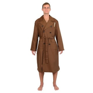 Doctor Who 10th Doctor Brown Trench Coat Styled Men's Robe