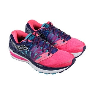 Saucony Hurricane Womens Pink Mesh & synthetic Athletic Lace Up Running Shoes