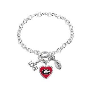 Georgia Bulldogs Bracelet Charmed Sport Love Football
