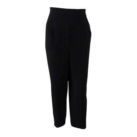 Karen Kane Women's Crepe Pull On Trouser Pants - Black