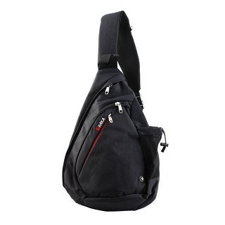 KAKA Authorized Cycling Crossbody Backpack Bag School Triangle Chest Pack Black