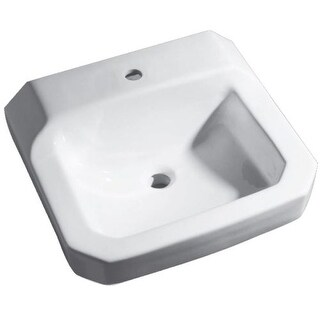 """Proflo PF5411 19"""" Wall Mounted Bathroom Sink with 1 Hole Drilled"""