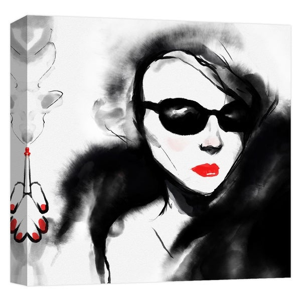 "PTM Images 9-124731 PTM Canvas Collection 12"" x 12"" - ""Elegant Style"" Giclee Audrey Hepburn Art Print on Canvas"