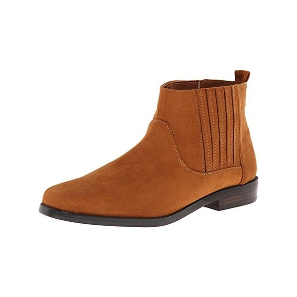 G.H. Bass & Co. Womens Blaine Chelsea Boots Microsuede Square Toe