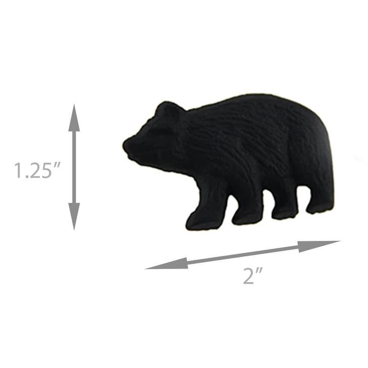 Cast Iron Bear on Log Drawer Pull Handle Cabinet Knob Rustic Decor