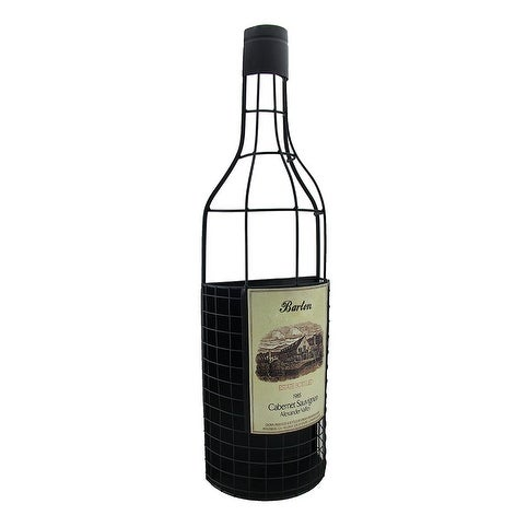 Wine Bottle Shaped Wall Mounted Metal Cork Holder