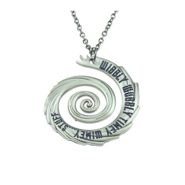 Doctor Who Wibbly Wobbly Timey Wimey Pendant Necklace - Silver