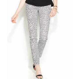 MICHAEL Michael Kors NEW Black Womens Size 12 Leopard-Print Dress Pants