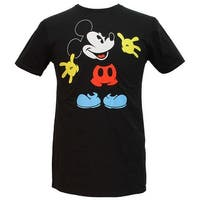 Disney Mickey Mouse Black Out Licensed Men's T-shirt