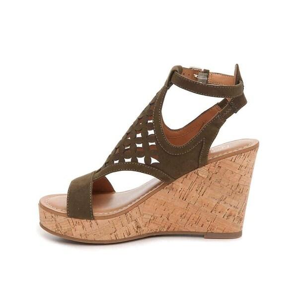 Franco Sarto Womens Cameron Open Toe Casual Slingback Sandals, Sage, Size 8.0 - 8