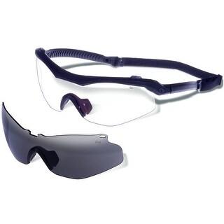 Gargoyles Trench Sunglasses Matte Black Frame/Smoke & Clear Interchangeable Lenses