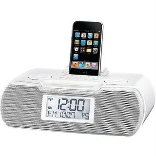 Sangean Rcr-10wh Am-fm Atomic Clock Ipod Docking Station - white