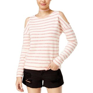 Roxy Womens Juniors Pullover Top Cold Shoulder Striped - L