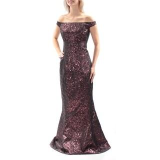 Womens Pink Cap Sleeve Full Length Mermaid Evening Dress Size: 10