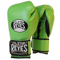 Cleto Reyes Lace Up Hook and Loop Hybrid Boxing Gloves - Citrus Green - citrus green