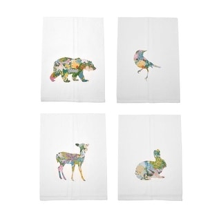 Fairytale Woodland Graphic Printed Cotton Tea Towel or Set