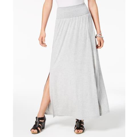 Style & Co Women's Smocked Comfort Waist Maxi Skirt Heather Grey Size - XLarge - X-Large
