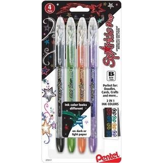 Black; Green; Orange; Purple - Pentel Sparkle Pop Metallic Gel Pens 1.0Mm 4/Pkg