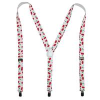 Parquet Women's Elastic Cherry Print Novelty Suspenders - One size