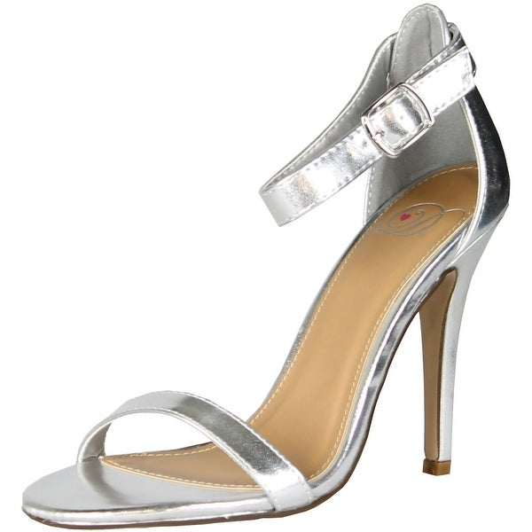 Delicious Womens Chacha Simple Classy Formal Club Prom Dress Sandal Ankle Wrap - Silver - 7.5 b(m) us