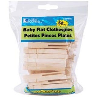 """Natural 2.5"""" 50/Pkg - Woodsies Baby Flat Clothespins"""