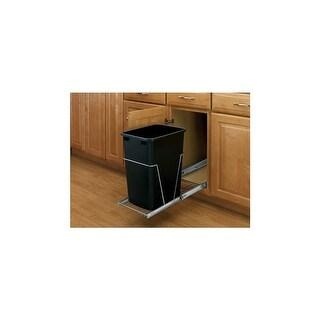 Rev-A-Shelf RV-12KD-18C S RV Series Bottom Mount Single Bin Trash Can with Full Extension Slides - 35 Quart Capacity
