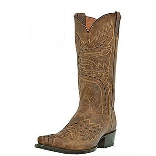Dan Post Western Boots Men Sidewinder Snip toe Tan Madcat DP2233