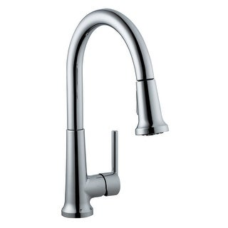 Design House 525725  Single Handle Kitchen Faucet with Pullout Spray - Polished Chrome