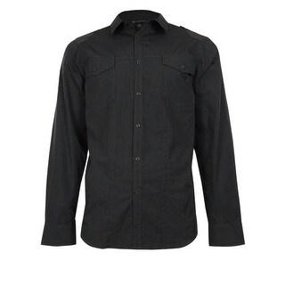 INC International Concepts Men's Basic Striped Button Down Shirt - S