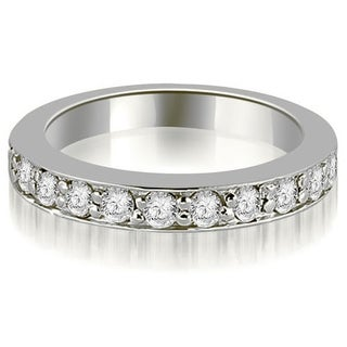 0.55 CT.TW Round Cut Prong-Set Diamond Wedding Band in 14KT Gold - White H-I